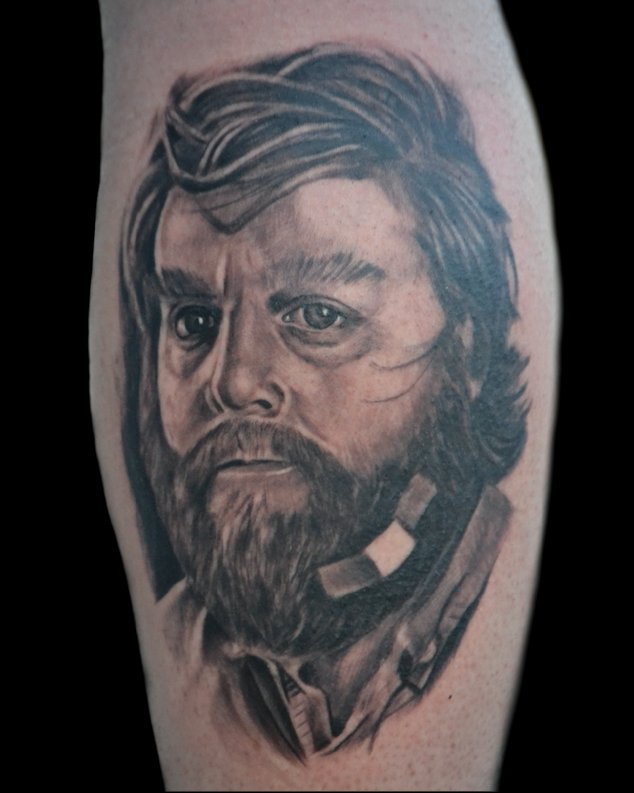 Black and Grey Portrait Tattoo by Jonathan Gilbert