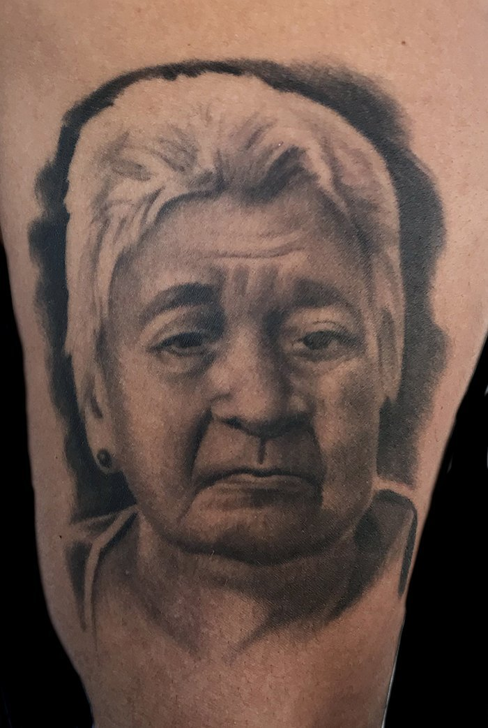 Portrait Tattoo done by Jonathan Gilbert of Katana Tattoo
